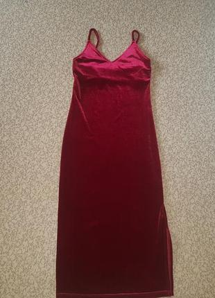 Платье миди в бельевом стиле бархатное5