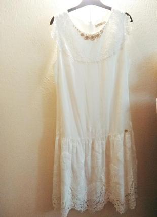 Абсолютно новое белоснежное платье gizia1