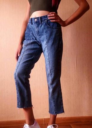 Распродажа!!!!! трендовые укороченые джинсы от denim co3