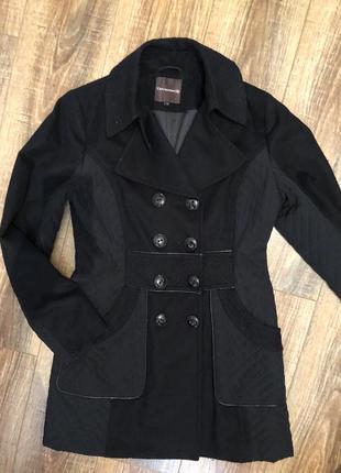 Пальто двубортное со вставками l3