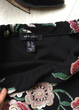Красивенная юбка цветочный принт3