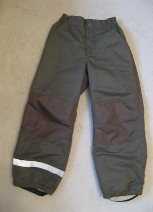 Термо штаны с флисовой попой h&m 134р 8-9л