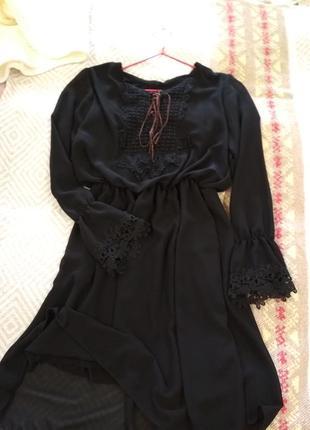 Черное нарядное платье1