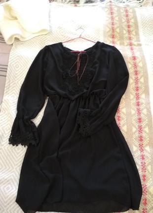 Черное нарядное платье2
