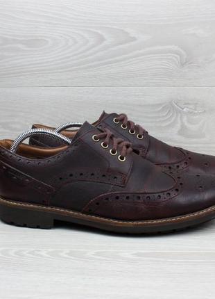 Кожаные мужские туфли броги clarks оригинал, размер 46
