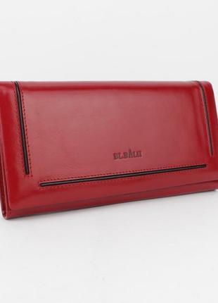 Кошелек женский кожаный bl balii 10-588-5 красный, монетница внутри