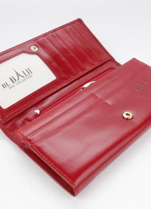 Кошелек женский кожаный bl balii 10-588-5 красный, монетница внутри5