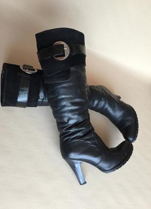 Сапоги зимние кожаные1