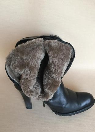 Сапоги зимние кожаные3