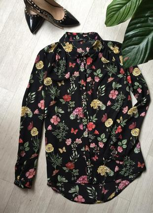 Шикарная блуза цветочный принт🌸1