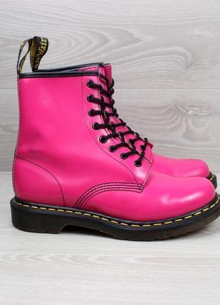 Кожаные розовые ботинки dr.martens 1460 оригинал, размер 391