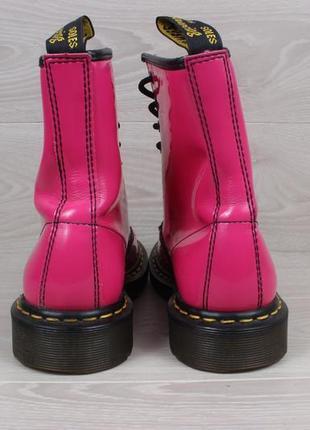 Кожаные розовые ботинки dr.martens 1460 оригинал, размер 394