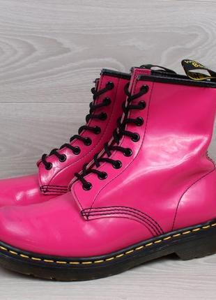 Кожаные розовые ботинки dr.martens 1460 оригинал, размер 395