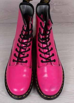 Кожаные розовые ботинки dr.martens 1460 оригинал, размер 392