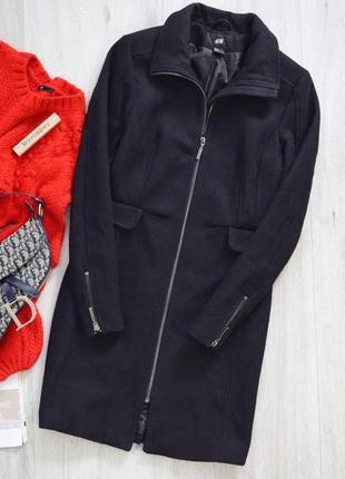 Чёрное шерстяное пальто нм❤️1