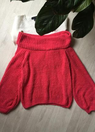Тренд сезона велюровый свитер с объёмными рукавами1
