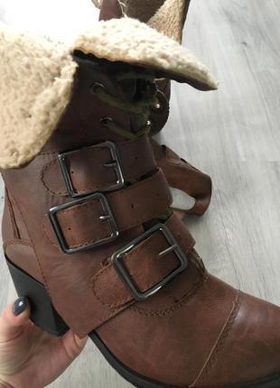 Сапоги,ботинки с мехом и съемными ремешками 36 итальянские1