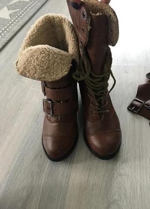 Сапоги,ботинки с мехом и съемными ремешками 36 итальянские5