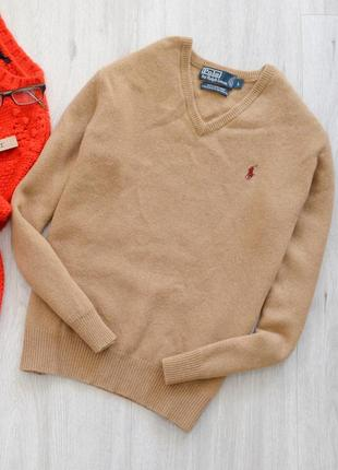Невероятно крутой шерстяной свитер ralph lauren песочного цвета 💔