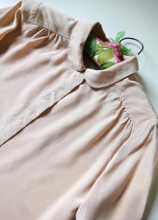 Шелковая пудровая блуза английского бренда2