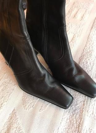 Женские демисезонные сапоги каблук фирма gabor5