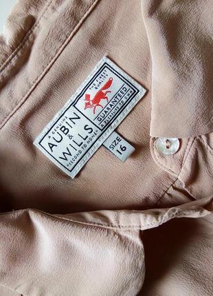 Шелковая пудровая блуза английского бренда3
