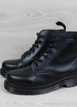 Кожаные черные ботинки dr.martens оригинал, размер 385