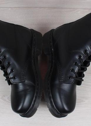 Кожаные черные ботинки dr.martens оригинал, размер 383