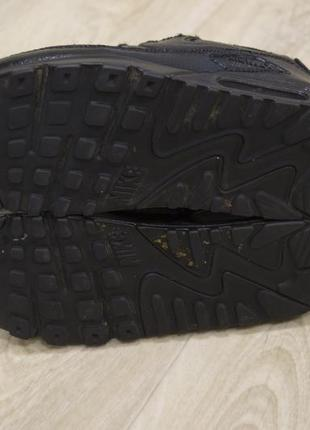 Женские кроссовки nike air max кожа черные оригинал4