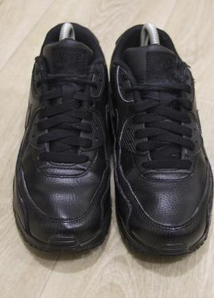 Женские кроссовки nike air max кожа черные оригинал2