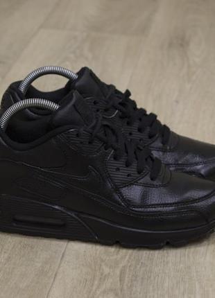 Женские кроссовки nike air max кожа черные оригинал1