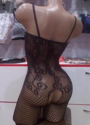 Эротический сексуальный комбинезон боди сетка sexy белье3