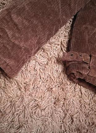 Вельветовая зимняя куртка с капюшоном, с-м3