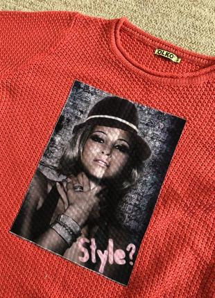 Женский свитер, жіночий светр, кофта olko4