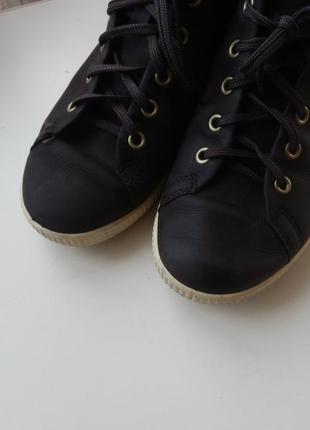 Кожаные деми ботинки ecco 36р 23,5см2