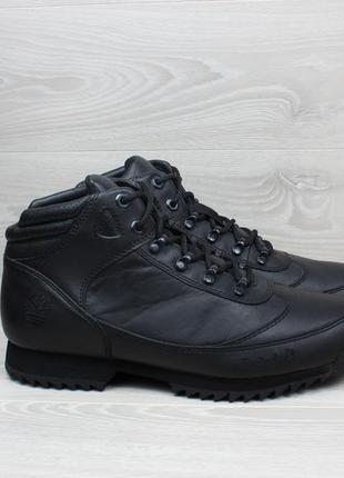 Кожаные мужские черные ботинки timberland, оригинал, размер 43 - 44 (тимберленд)