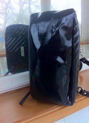 Лаковая стеганая сумка. крос-боди. шопер. клач. кошелек. next2
