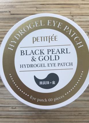 Гидрогелевые патчи для век petitfee black pearl & gold hydrogel eye patch1