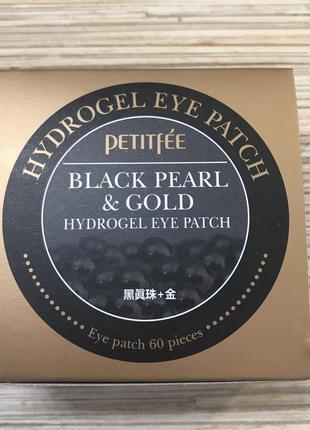 Гидрогелевые патчи для век petitfee black pearl & gold hydrogel eye patch2