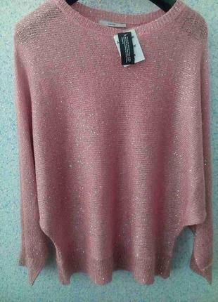 George очень красивый пуловер пудрового цвета с вшитыми пайетками1