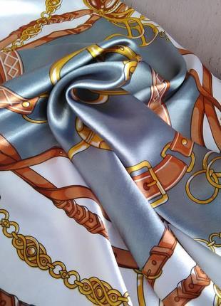 Красивый платок в стиле hermes акция 1+1= 31