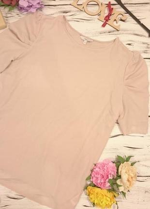 Блуза цвета чайной розы большой размер