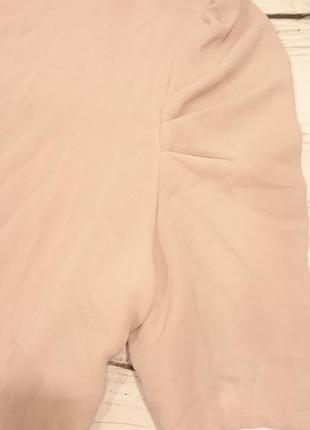 Блуза цвета чайной розы большой размер3