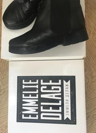 Челси ботинки emmelie delage кожа5