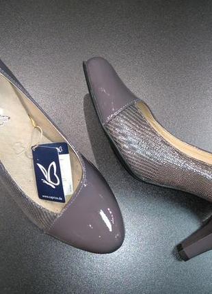Туфли из натуральной кожи немецкого бренда caprice серо-сиреневые, р. 37, 38, 404
