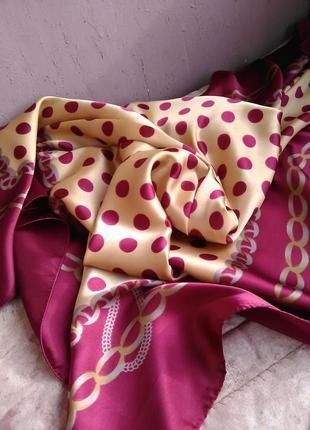 Шикарнейший большой шёлковый платок1