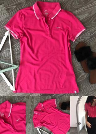 Рожева футболка з воротнічком від nike