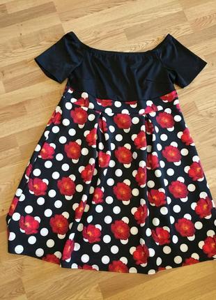 Красивое платье с оголенными плечами от yours, большой размер (uk24 - наш 58)2