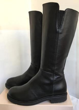 Сапоги кожаные демисезонные, актуальная модель, 33/34 размер.2