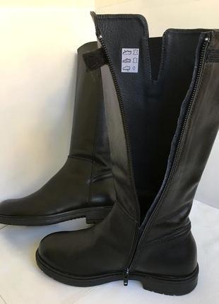 Сапоги кожаные демисезонные, актуальная модель, 33/34 размер.3